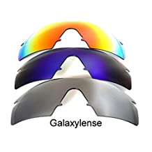 Galaxy Replacement Lenses For Oakley M Frame Polarized Titanium&Blue&Red 3 Pairs