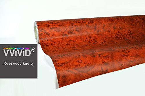 VViViD Knotty Rose Wood Grain Architectural Vinyl Wrap Roll (2ft x 48 Inch)