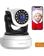 Apeman FHD 1080P Telecamera Sorveglianza WiFi Interno, Videocamera IP Wireless,Visione Notturna a Infrarossi, Audio Bidirezionale, Per Baby Monitor, Sensore di Movimento Pan/Tilt