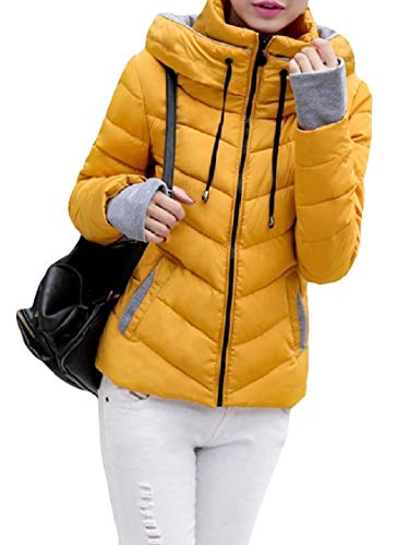 Mini Coat Pattern8 Slim Thick Down Stand Womens Pocketed Collar Energy Zipper qP6fZzftw