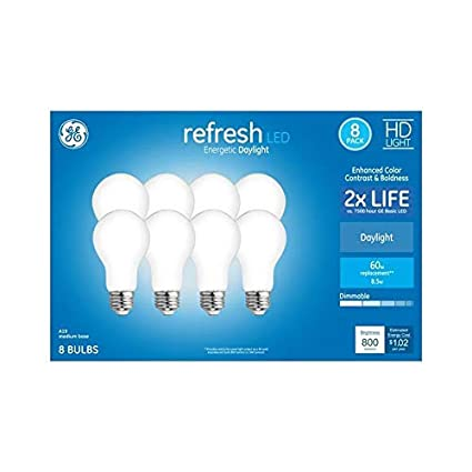 16-Pack GE Refresh 60-Watt EQ A19 Daylight Dimmable LED Light Bulb