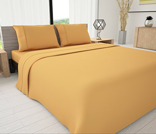 Livingston Home LH-33621 Novelty Bedding Sheet Set, Gold, - In Macy New Jersey