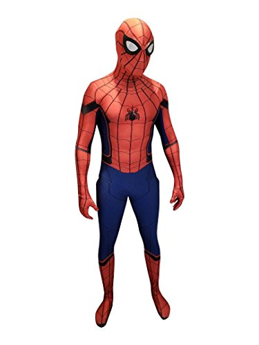 Spider-Man Homecoming Cosplay Costume Homecoming Spider-Man Suit Spiderman Costume (XL)