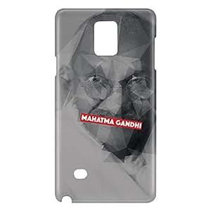 Loud Universe Galaxy Note 5 Mahatma Gandhi Print 3D Wrap Around Case - Gray