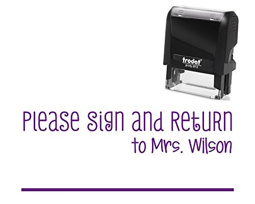Please Return Self Inking Stamp Personalized