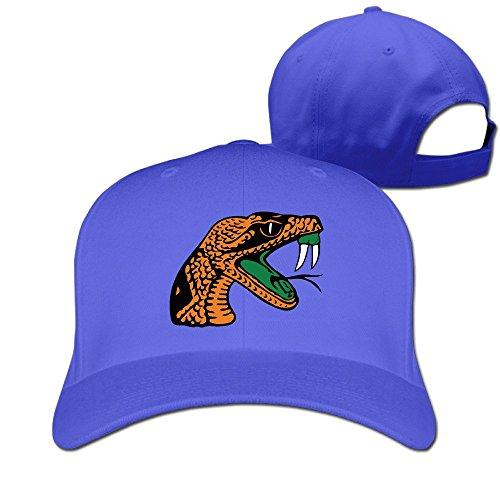 Florida A&M Rattlers Lady Rattlers Logo Sport Snapback Peaked Hats RoyalBlue Unisex - Famu Heart