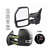 MOSTPLUS New Power Heated Towing Mirrors for Ford F150 2015 2016 2017 w Turn Signal-8 Pin Plug (Set of 2)