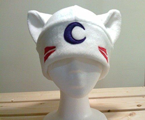 Inuyasha Fleece Cap (Inuyasha Cosplay - Inuyasha Costume - Inuyasha Hat - Sesshomaru Hat - Dog Ears - Dog Ear Hat - Dog Fleece Hat - Cosplay Hat - Dog Anime hat)