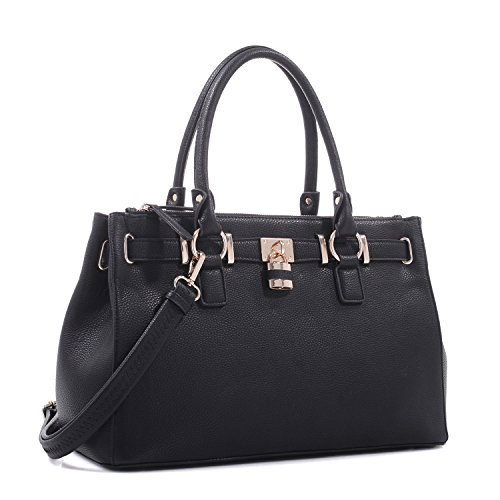 Black Concealed Lock Dina Carry Concealed Carry Purse Satchel wqP0PfOI