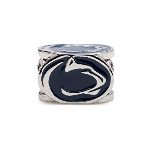 Penn State University Charm | Penn State Nittany Lions Bead Charm | Penn State Jewelry | PSU Gifts | Officially Licensed Penn State Bracelet Charms | Penn State Charm Fits Most Charm Bracelets