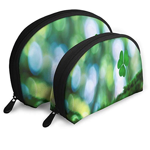5d792e22917a Pingshoes Makeup Bag Sunshine Four Leaf Clover Portable Shell Cosmetic Bags  Case Women