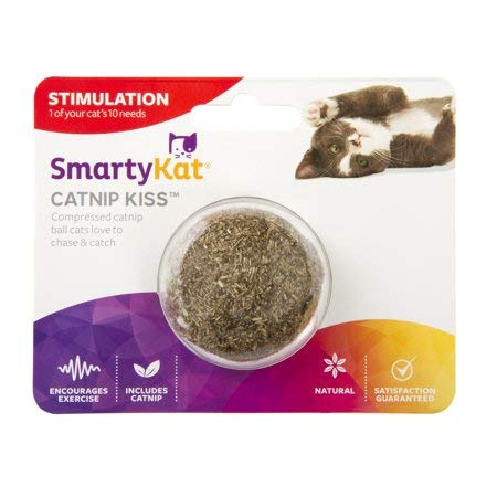 SmartyKat Catnip Kiss Compressed Catnip Ball (09351-94997-024) - Set of 2