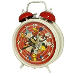 Looney Tunes Gigantic Twin Bell Clock by Westclox - Table top or Wall Mountable
