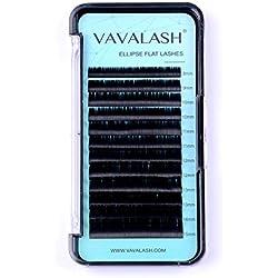Ellipse Eyelash Extensions 0.15mm D Curl 8-15mm Mixed Flat Eyelash Extension supplies Light Lashes Matte Individual Eyelashes Salon Use Black Mink False Lashes Mink Lashes Extensions(D-0.15-MIXED)