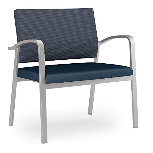 Newport Bariatric Guest Chair with Fabric Back and Vinyl Seat Dimensions: 33