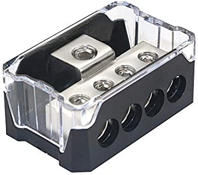 New Car Power//Ground Cable Splitter Distribution Block 1 In 3 Out