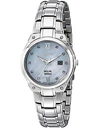 Women's SUT213 Solar Silver-Tone Stainless Steel Watch