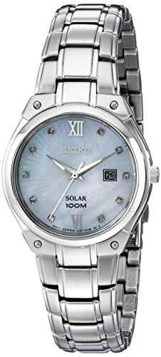 Seiko Women's SUT213 Solar Silver-Tone Stainless Steel Watch