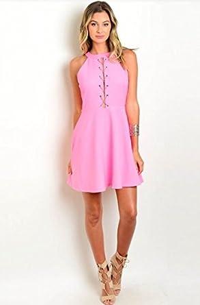 6f3c76f24d6ce Heaven Sent Boutique Hot Pink Mini Dress (Large) at Amazon Women's ...