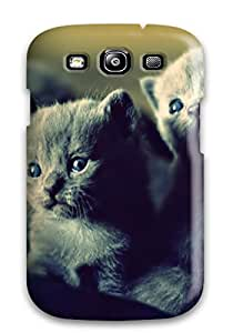 Top Quality Case Cover For Galaxy S3 Case With Nice Kitten In A Wicker Basket Appearance