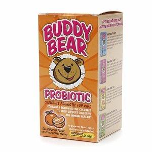 ReNouveau vie Buddy Bear probiotique, à croquer Comprimés ours, Orange 60 ch