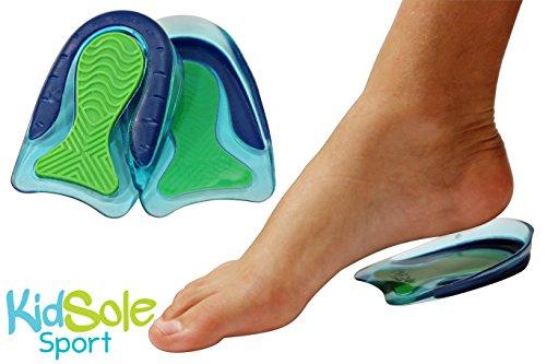 KidSole Sport Traction Shock Absorbing Lightweight Gel Heel Cups For Kid