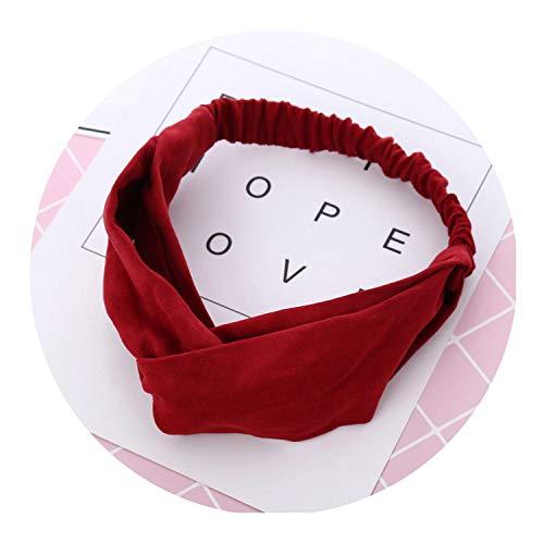 Coffee Bond Saucer (1 pcs Vintage Cross Knot Elastic Hair Bands Women Suede Girls Hairband Headwear 2019,red)