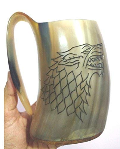 Game of thrones viking drinking horn mug tankard for beer wine ale mead