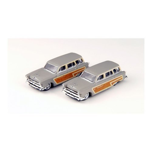 1953 Ford Country Squire Wagon (Grey) (2) N Scale Classic Metal Works ()
