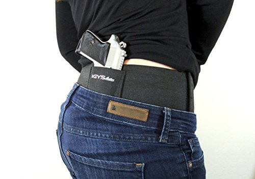 Concealed-Carry-Belly-Band-Gun-Holster--CCW-Tactical-Gear-that-Fits-Most-Pistol-Frame-Sizes-and-Multiple-Draw-Positions-Adjustable-Elastic-Belt-with-2-Magazine-Holders--For-Men-or-Women