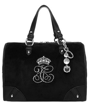 Juicy Couture All Hail YHRU3151 Satchel,Black,One Size, Bags Central