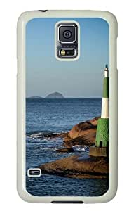 Samsung Galaxy S5 Case and Cover -Lighthouse Custom PC Hard Case Cover for Samsung S5/Samsung Galaxy S5 White