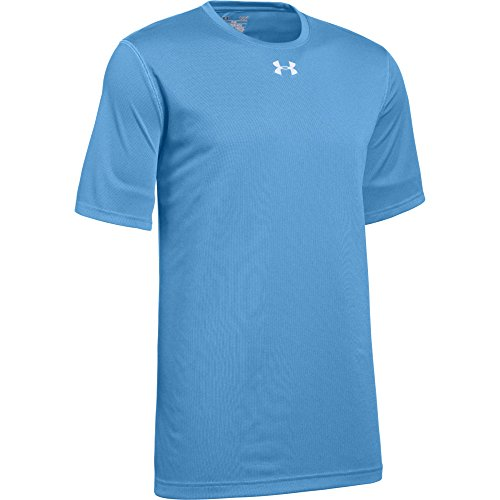 T-shirt 2 Logo Tech (Under Armour Men's UA Locker 2.0 T-Shirt (X-Large, Carolina Blue-Metallic Silver))