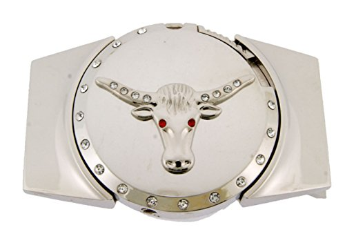 Women's Lone Cowgirl Costumes (Lighters Belt Buckle Lone Star State Texas Bull Silver Metal New Costume Cowgirl)