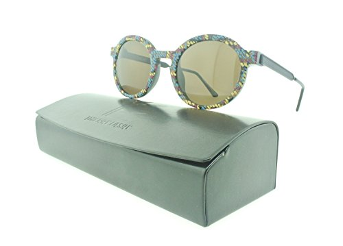 Thierry Lasry Sobriety Round Sunglasses Composite Frames (Black Multicolor, - Thierry Lasry Glasses