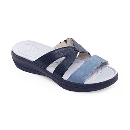 Libre Cuerno Grande Anchura Ee Azul Mujeres Las Padders Cuero Charlie Del Extra De Combi Sandalia Zapato xq0nzvRwPO