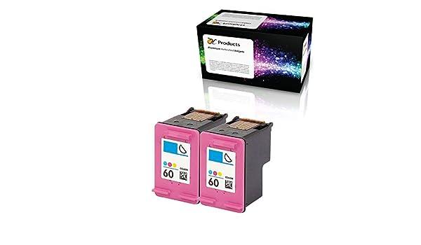 ocproducts refilled HP 60 color cartucho de tinta reemplazo para ...