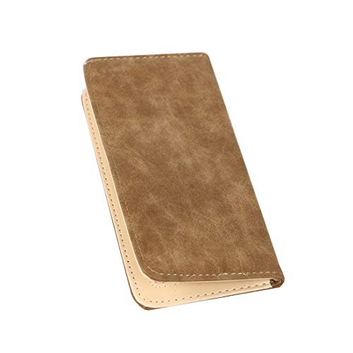 (Women's Wallet RFID Covering Frosted Leather Bifold Multi Card Case Wallet(Brown))