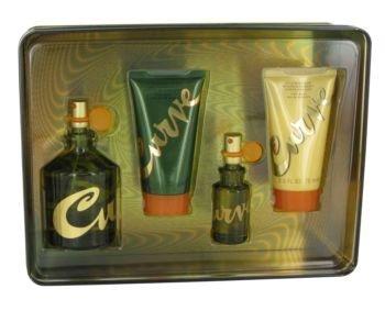 Curve Gift Set by Liz Claiborne Gift Set for Men Includes 4.2 oz Cologne Spray + .5 oz Cologne Spray + 2.5 oz Skin Soother + 2.5 oz Hair & Body Wash ()