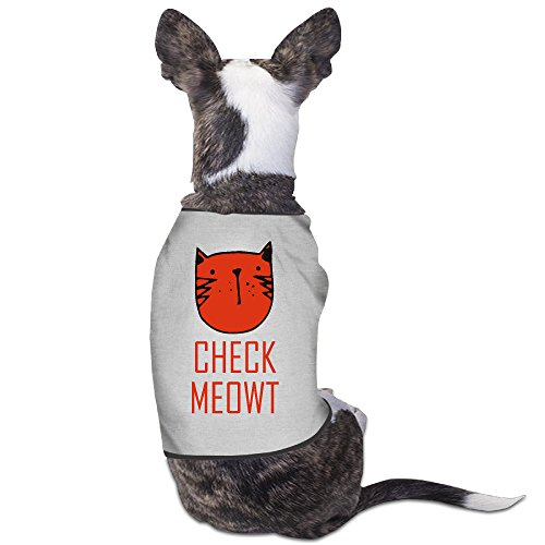 CHECK MEOWT Cat Cute Funny Childlike Pet Clothes Shirt Dog Coat Jacket (Nevada Checks)