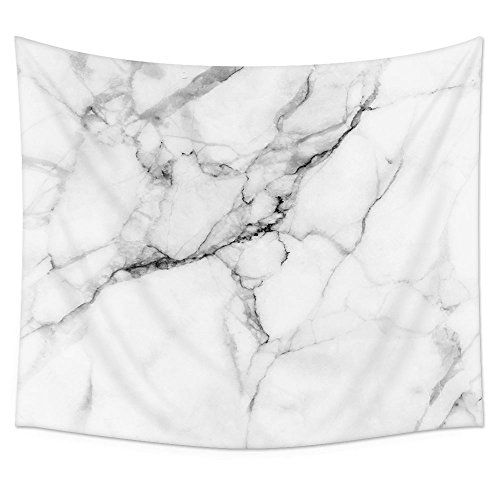 Uphome Marble Tapestry Wall Hanging, White and Grey Fabric Wall Tapestries 3D Crack Granite Small Tapestry Hangings Wall Decor for Living Room Dorm, 51