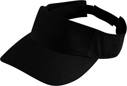 (Augusta Sportswear Adult Sport Twill Visor OS Black)