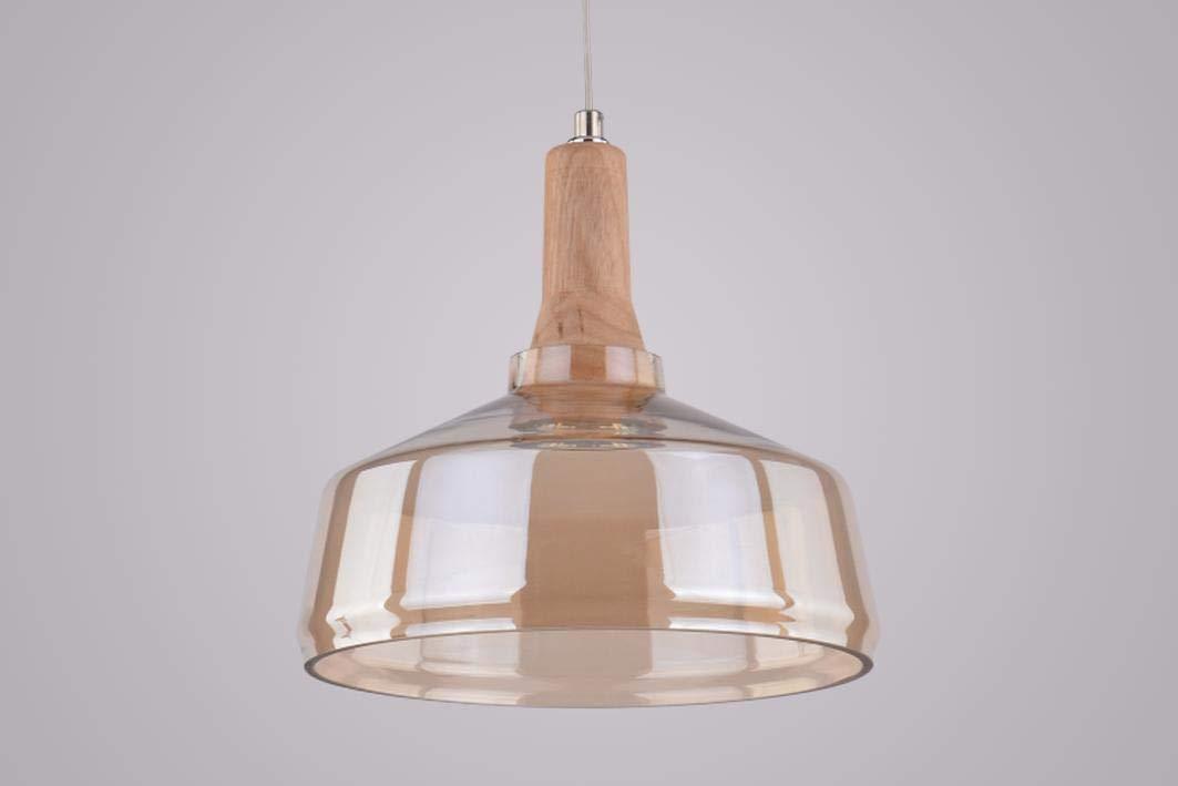 Kronleuchter Rund Holz ~ Pendelleuchte lagan glas holz massiv natur rauchglas design: amazon