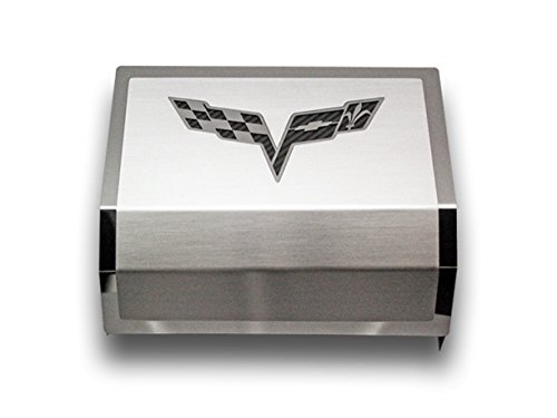 2005-2013 Corvette C6 Deluxe Fuse Box Cover With Crossed (Dress Up Fuse Box Cover)