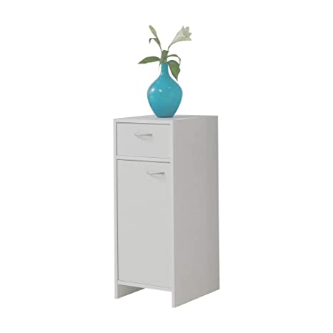 FMD Möbel Madrid 2 Cómoda, Madera, Blanco, 32.5x33x79 cm
