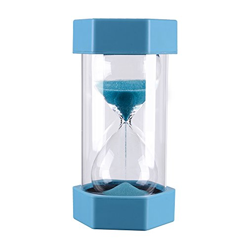 10 Minutes Gravity Sandglass Hourglass Visual Timer Precise Sand Clock, Durable Vlue Sand Timer