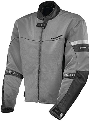 (FirstGear Rush Air Mesh Jacket - Silver - Large (Large))