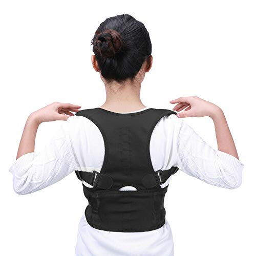 FanBell Posture Corrector Support Magnetic Lumbar Back Shoulder Brace Belt for Women Men (S)