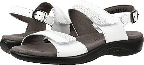 SAS Women's, Nudu Low Heel Sandals White 8 M