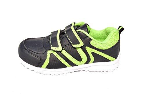 BTS - Zapatillas de Piel para niño 36 Varios Colores - Schwarz/ Grün